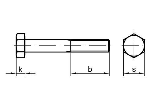 10 Stk Sechskantschraube /& Mutter DIN 601 M10 x 280 Stahl verzinkt