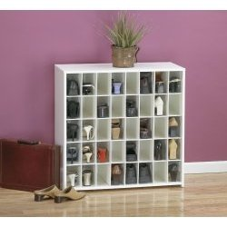 Women's Shoe Rack By Cubbies Unlimited: Open Unit W/ 40Pr, White 040 by Cubbies Unlimited