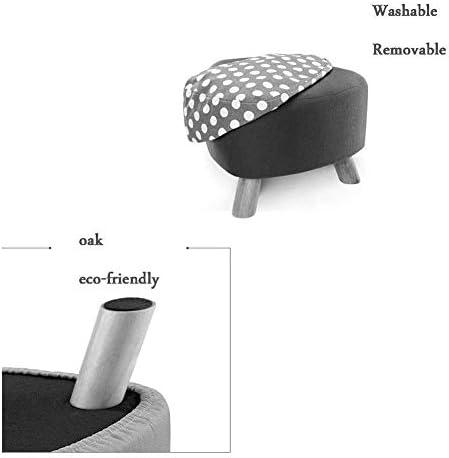 WZF Magasin de Chaussures Lavage des Pieds Canapé Tabouret Bébé Bois Petit Tabouret Chaise Canapé Simple Tabouret Petite Chaise Bois Massif Petite Chambre 28x39 (Couleur: Bleu)