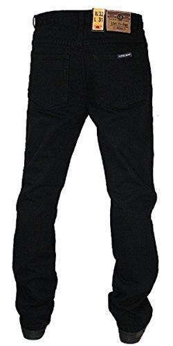 Aztec - Herren Strapazierfähige Starke Freizeit Denim Hose Jeans Länge L31 - Schwarz, 50