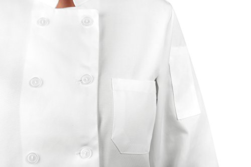 KNG Womens White Classic ¾ Sleeve Chef Coat, S by KNG (Image #5)