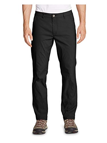 Eddie Bauer Men's Horizon Guide Chino Pants - Slim Fit, Black Regular 34/30