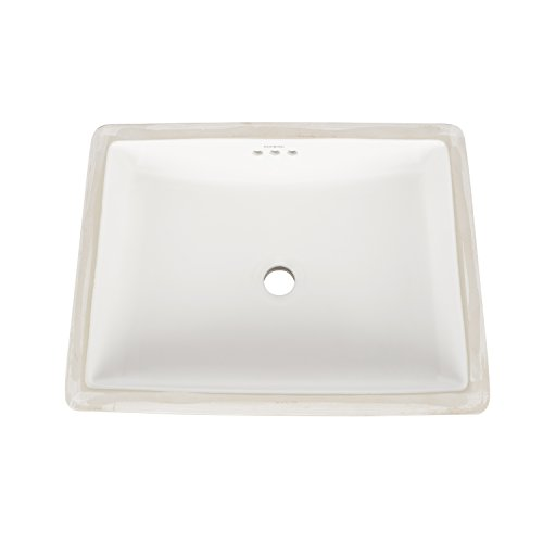 RONBOW Plane 20 Inch Rectangle Undermount Ceramic Vessel Bathroom Sink in White 200520-WH - Ronbow Open Grid