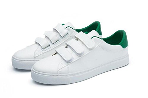 Magiche Sorridenti Scarpe Studenti Xie Confortevole Daily 39 Lady Flat Simple 39 Shoes Green Movimento Bottom Pu Casual Green Stickers OCIwq1C