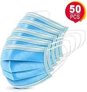 Anrui 50 St/ück Einweg-Vlies-Gesichtsschutz Anti-Staub-Mund Earloop-Gesicht