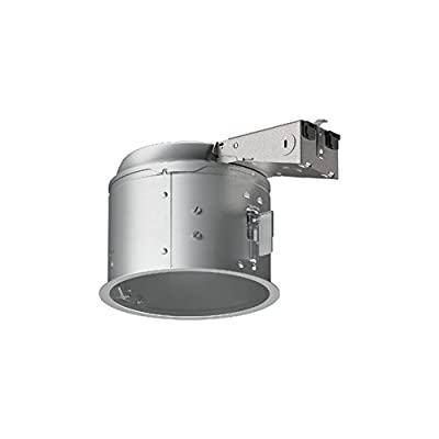 "Halo E27RICAT E26 Series Recessed Lighting Shallow Remodel Insulation Contact Rated Air-Tite Housing, 6"", Aluminum"