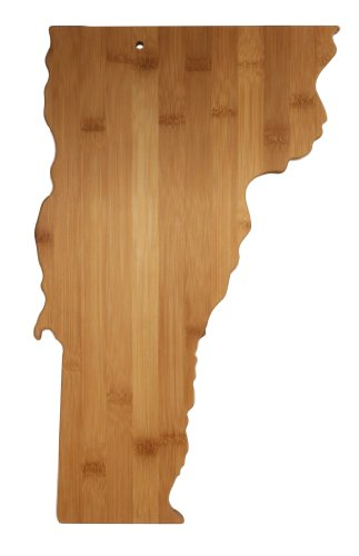 Totally Bamboo State Cutting & Serving Board, Vermont, 100% Bamboo Board for Cooking and Entertaining