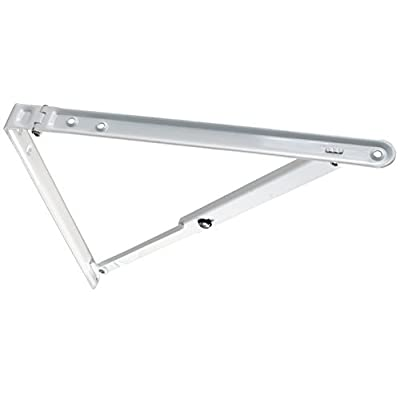 hot sale JR Products 20725 White Folding Shelf Bracket Color: White Model: 20725 (Hardware & Tools Store)