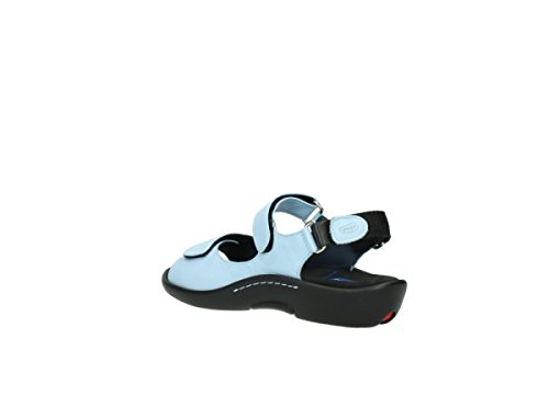 Wolky 1300 Salvia Black Womens Sandals 280 light blue leather