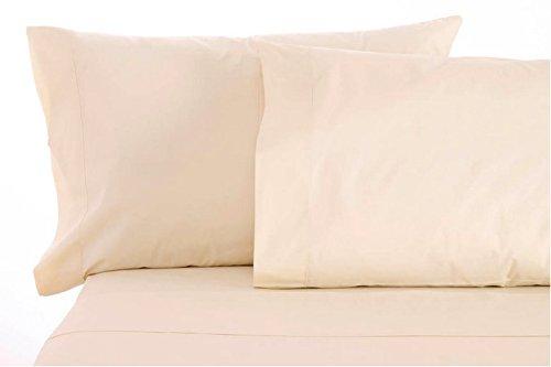 Sleep & Beyond 17-Inch Organic Cotton Sheet Set, California King, Ivory