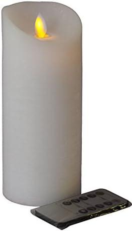 Grosse Dicke Led Kerze Weiss Hohe 20cm O 10cm Material