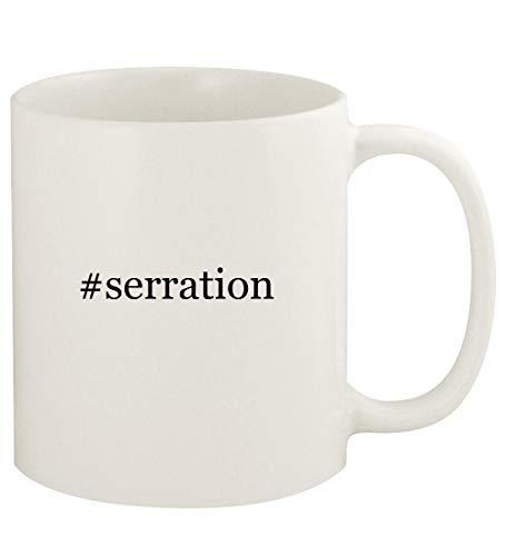 #serration - 11oz Hashtag Ceramic White Coffee Mug Cup, White