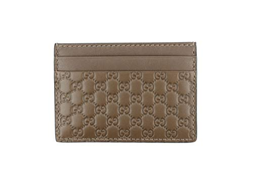 - Gucci Microguccissima Signature Leather Card Case Wallet, Mid-Brown 262837