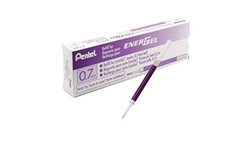 6x Pentel LR7 EnerGel Special Roller Liquid Gel Pen Refills,Violet Ink, (0.7mm), Metal Tip, New (Refills for Pentel BL497, BL417, BL407,BL107,BL77, BL57 and BL37)