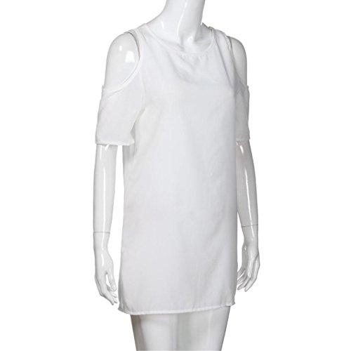 51ca9ca8a Blanco Mujer Para Descubiertos Toamen De Vestido Ropa Casual Sólido Larga  Promociones ¡vestido Hombros Manga ...