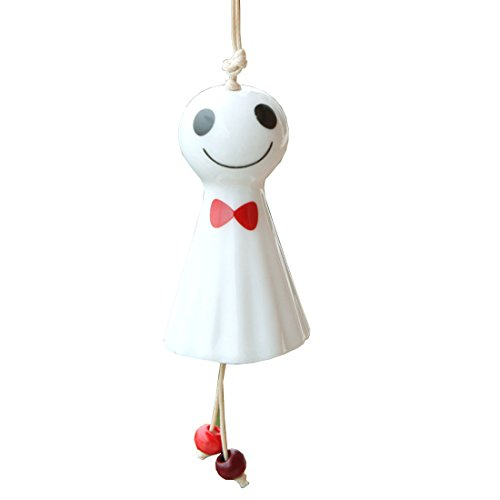HBOS Colored Badminton Sunny Day Doll Jingdezhen Ceramic Wind Bell Crafts Wind Chimes Accessories Small Pendant Smile - Doll Funeral