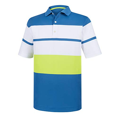 (Footjoy Athletic Fit Color Block Smooth Pique Knit Collar )
