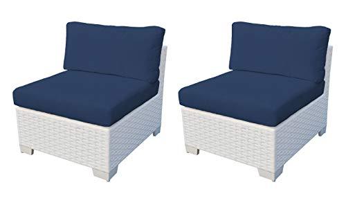 TK Classics Monaco Armless Sofa 2 Per Box in Navy