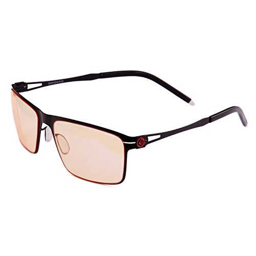 GAMEKING Ultra 2086 Premium Blue Light Blocking Computer Glasses Gaming Glasses with Anti Glare Anti UV Tan Tint Lens for Digital Eye Strain Fatigue Relief Better Sleep Men Women