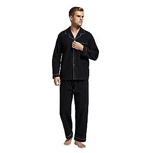 TONY AND CANDICE Men's Flannel Pajama Set, 100% Cotton Long Sleeve Sleepwear