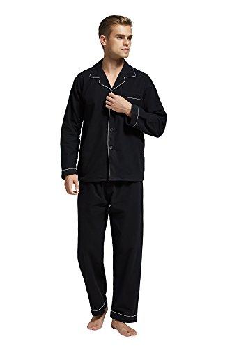 Flannel Pajama Cotton Sleeve Sleepwear