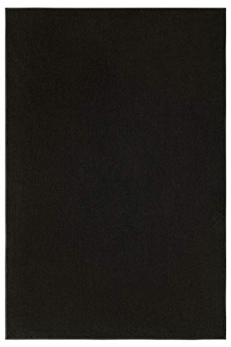 - Indoor/Outdoor Black Area Rugs with Premium Non Skid Backing Great for Patio, Porch, Deck, Party, Garage, Boat, Event, Basement, Wedding Tents and More Available Size 7'x9'