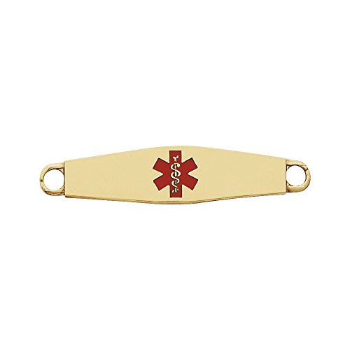Jewels By Lux 14K Yellow Gold Engravable Medical I.D. Plate