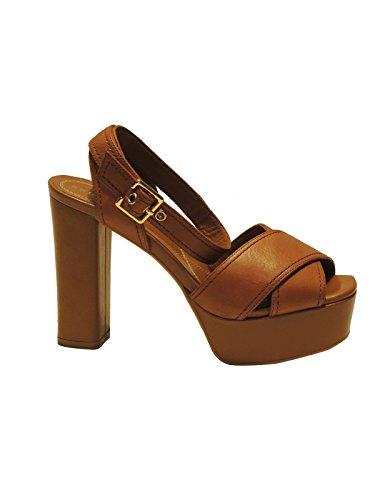 Bruno Premi sandal pour femme MADE IN ITALY en cuir avec plateau model bride cheville F3101P réduction 15%