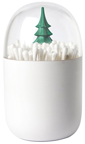 Winter Time Cotton Bud Holder by Qualy Design Studio. Unusual Home Deco. Centerpiece of any Bathroom or Bedroom. Unique Cotton Buds Dispenser. Unusual Modern Gift.