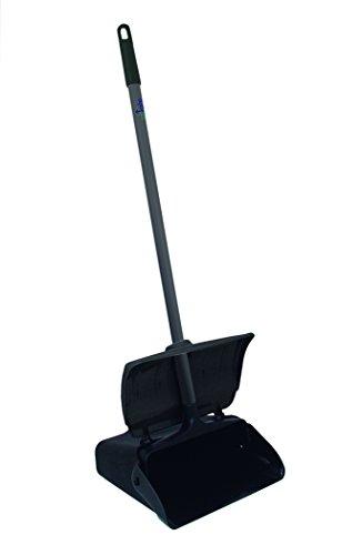 (Update International LDPC-12BP Lobby Dust Pan with Black Hooper and Aluminum Handle)