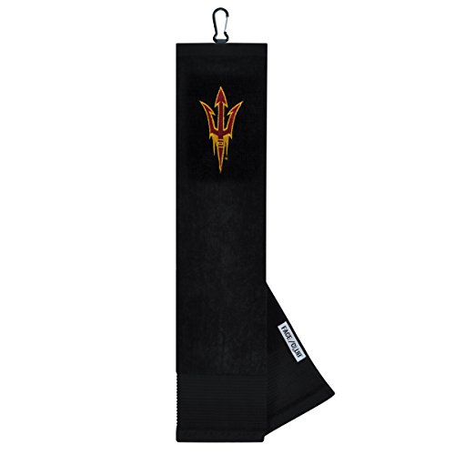 Arizona State Golf Towel - Arizona State Sun Devils Face/Club Embroidered Towel