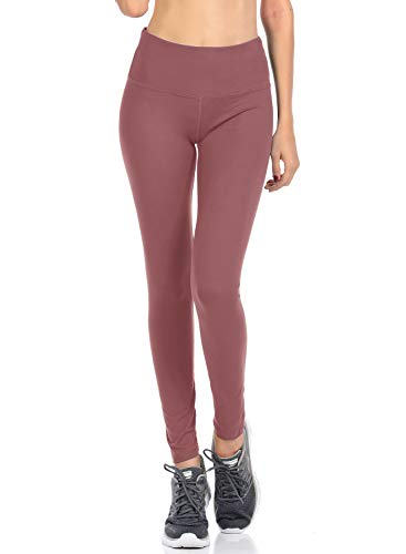 (VIV Collection Signature Leggings Yoga Waistband Soft w Hidden Pocket (XL, Indian Pink))