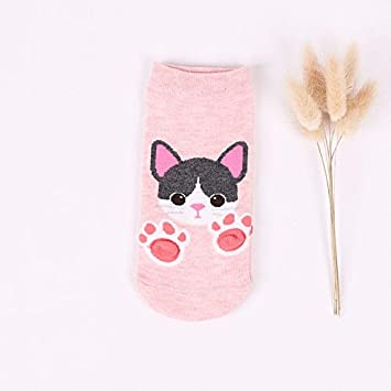 ZHANGJIANHUN Animal Calcetín Corto 3D Barco Gato Garras de Cartoon Cute Mujer Calcetines Fox Perro Tiger 4 Pares,Rosa: Amazon.es: Deportes y aire libre