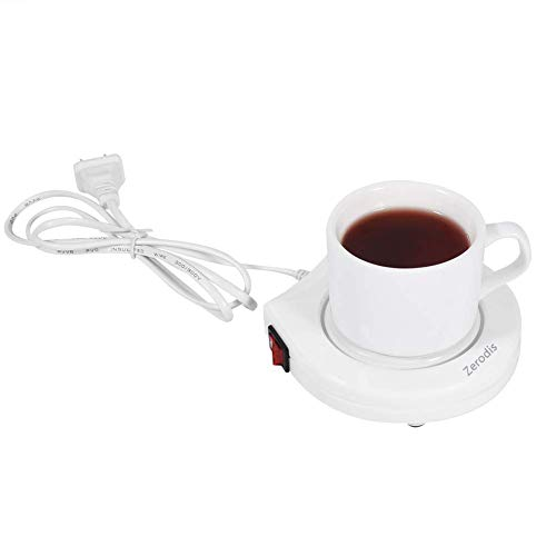 Find Bargain Zerodis Coffee Mug Warmer, Electric Powered Coffee Cup Warmer Heater Pad Plate for Beve...