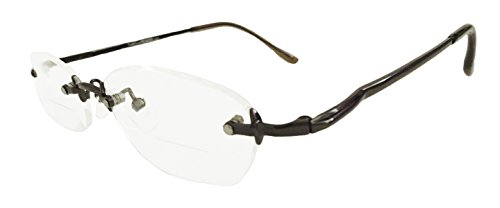 TR360079 RIMLESS Bifocal Reading Glasses (+1.50, - Rimless Bifocal Glasses
