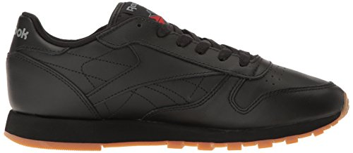 Reebok Sneaker Leather Gum Classic Women Us black CwqfnPR6C