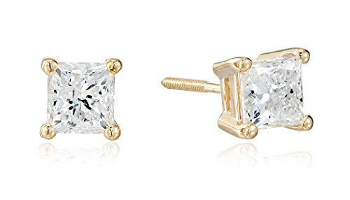 14k-Yellow-Gold-Princess-Cut-Diamond-Screw-Back-and-Post-Stud-Earrings-1-15cttw-H-I-Color-I2-Clarity