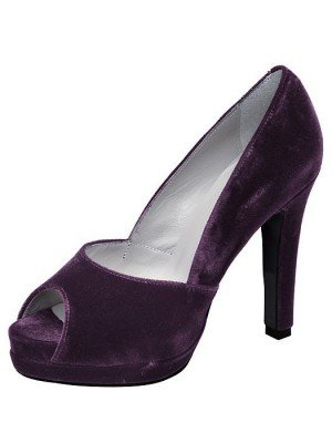 morado Zapatos Peeptoe para Violeta vestir de Dini mujer Patrizia terciopelo de Av6qSS