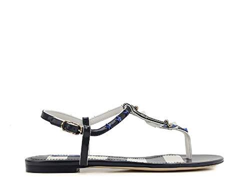 Gabbana Cq0136ab57187585 Cuir Femme Vernis Sandales Bleu E Dolce OgSF5