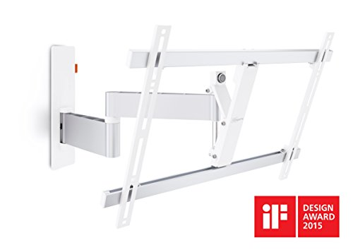 Vogel's WALL Series 180° TV Wall Mount, Swivel and Tilt, WALL 2345 40-65 inch TV, White/Silver