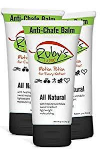 Ruby's Lube Voted Best for Triathlons and Ironmans Anti- Chaffing Chamois Cream | All Natural and Made in USA | Water & Sweat Resistant | Formulated by a 7 Time Ironman Winner - 3 oz Tube ()