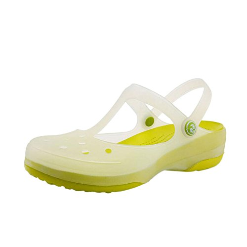 Summer Shoes Breathable Shoes Soft Beach Rain Sandals Flat Meijunter Rainboots Jelly Non Green Ladies slip Change Shoes Boots Hole Color Womens qwxxHdgT