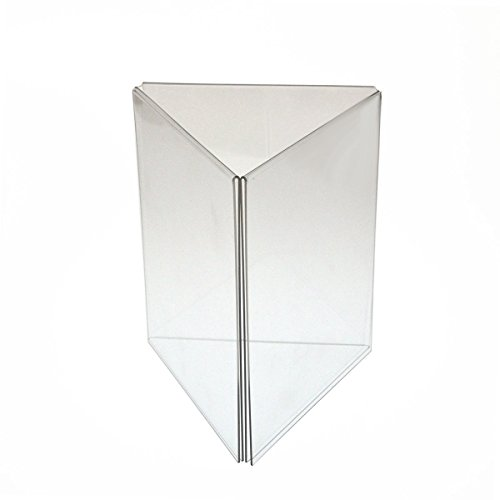 Dazzling Displays Acrylic 4 x 6 Three Sided Sign Holders