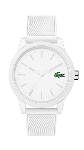 Lacoste Men's TR90 Quartz Watch with Rubber Strap, White, 20 (Model: 2010984) (Watches Lacoste)