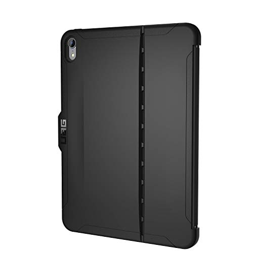 Urban Armor Gear UAG iPad Pro 11-inch (1st Gen, 2018) Scout Feather-Light Rugged [Black] Military Drop Tested iPad Case with Apple Pencil Holder