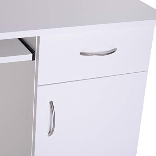 Mesa de Ordenador Tipo Escritorio para PC - Color Blanco -Madera ...