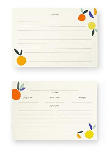 Kate Spade New York Recipe Card Set of 40 (Citrus -