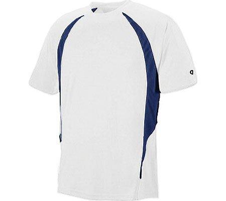 Champion double Dry Elevation t-shirt da uomo, T252, 2x L, White/Vibe navy