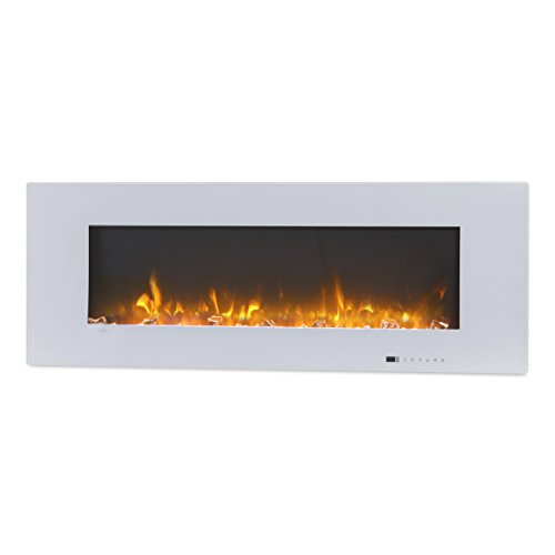 "Valuxhome Luxey 50"" 750W/1500W, Wall Mounted Electric Fireplace, Touch Screen Control Panel image"