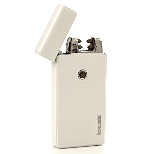 Best USB Dual Electric Rechargeable Arc Lighter, Enji Prime, spark At The Push Of a Button, Flameless, Windproof, Eco Friendly & Energy Saving (7) (Lion With Statue Ball)